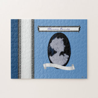 Classic Cameo (Blue) Jigsaw Puzzles