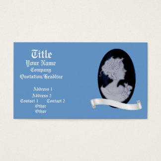 Classic Cameo (Blue) (Wedding) Business Card