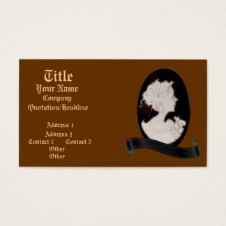 Classic Cameo (Ivory/Brown) Business Card