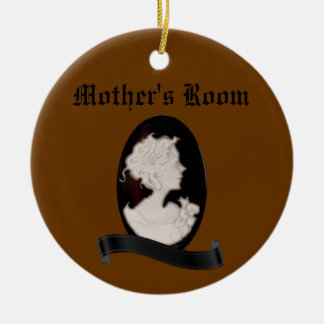 Classic Cameo (Ivory/Brown) Ceramic Ornament