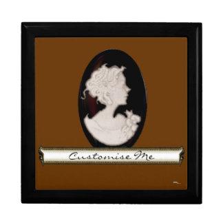 Classic Cameo (Ivory/Brown) Jewelry Box
