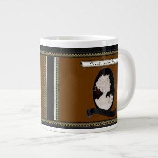 Classic Cameo (Ivory/Brown) Large Coffee Mug