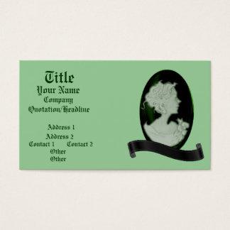 Classic Cameo (Jade/Green) Business Card