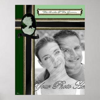 Classic Cameo (Jade/Green) (Wedding) Print