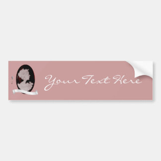 Classic Cameo (Rose) Bumper Sticker