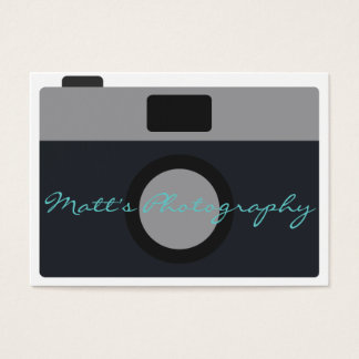 Classic Camera Icon for Photographer Business Card