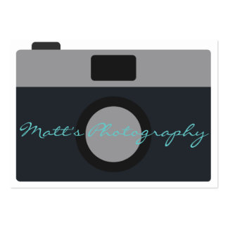 Classic Camera Icon for Photographer Large Business Card