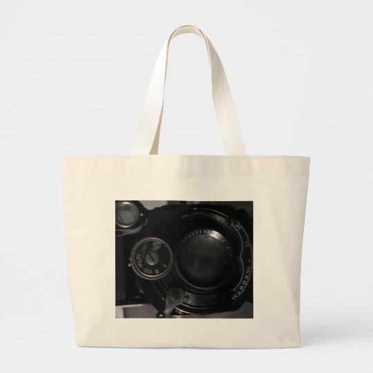 Classic Camera Print Large Tote Bag