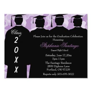 Classic Camo Elegant Graduation Invitation