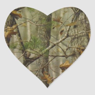 Classic Camouflage Heart Sticker