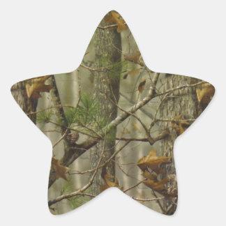 Classic Camouflage Star Sticker