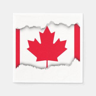 Classic Canada Flag Paper Napkin
