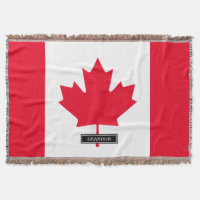 Classic Canada Flag Throw Blanket