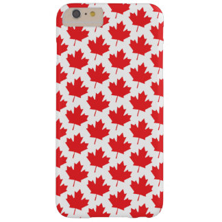 Classic Canadian Canada Day Red Maple Leaf Pattern Barely There iPhone 6 Plus Case