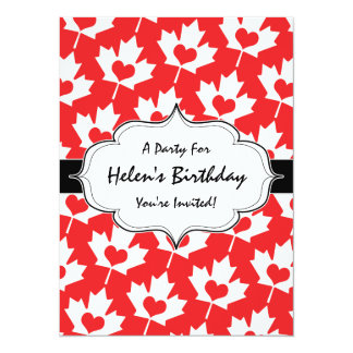 Classic Canadian Flag Maple Leaf with Heart Card