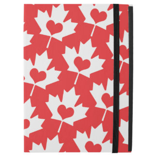 """Classic Canadian Flag Maple Leaf with Heart iPad Pro 12.9"""" Case"""