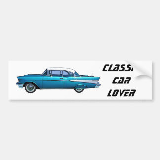Classic car 1957 Chevy BelAire Bumper Sticker