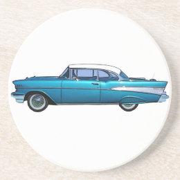 Classic car 1957 Chevy BelAire custom coaster