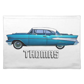 Classic car 1957 Chevy BelAire custom placemat