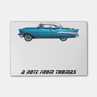 Classic car 1957 Chevy BelAire custom Post-It pad Post-it® Notes