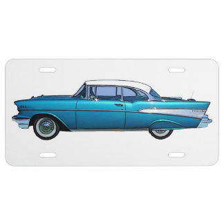Classic car 1957 Chevy BelAire license plate