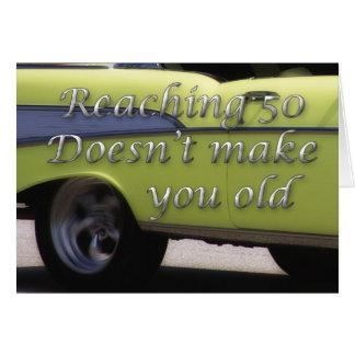 Classic Car 50th Birthday Greeting Card