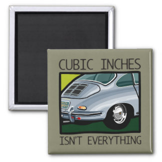 Classic car: Air-cooled 356 more than cubic inches 2 Inch Square Magnet
