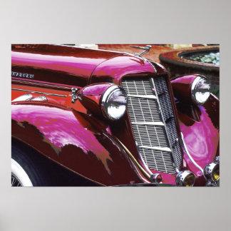 Classic car: Auburn Poster