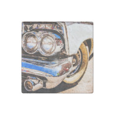 Classic Car Beauty Stone Magnet at Zazzle