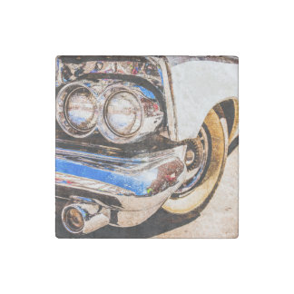 Classic Car Beauty Stone Magnet