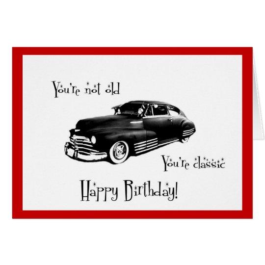 Vintage Car Birthday Cards