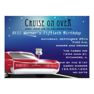 Classic Car Birthday Party Invitation