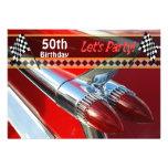 Classic Car Birthday Party Invitation Custom Announcement