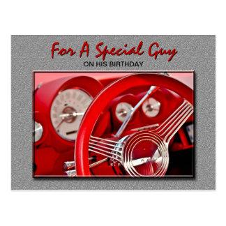 Classic Car Birthday Postcard
