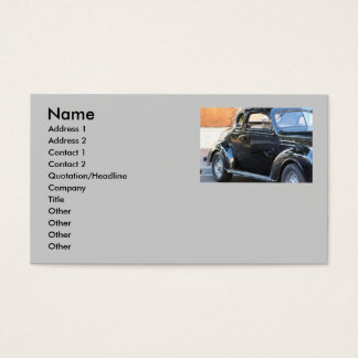 Classic car business card
