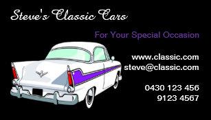 classic car business cards zazzle