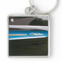classic car catalina side emblem and wing keychain