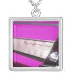 Classic car: Chevrolet Bel Air Square Pendant Necklace