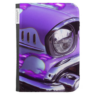 Classic car: Chevrolet with flaming hood Kindle 3G Case
