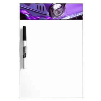 Classic car: Chevrolet with flaming hood Dry-Erase Board