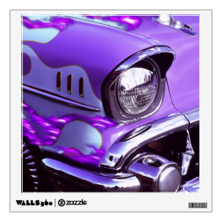 Classic car: Chevrolet with flaming hood Wall Sticker