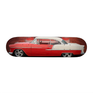 Classic Car Chevy Bel Air Red White Vintage Skate Skateboard Deck