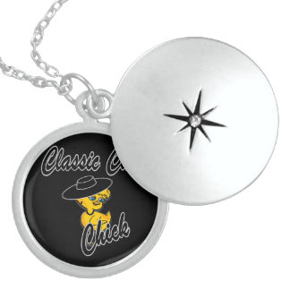 Classic Car Chick #4 Sterling Silver Necklace