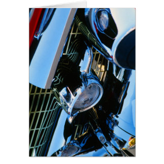 Classic Car Chrome Abstract Red 1957 Chevy Bel Air Greeting Card