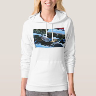Classic Car Chrome Abstract Red 1957 Chevy Bel Air Hoodie