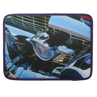 Classic Car Chrome Abstract Red 1957 Chevy Bel Air Sleeves For MacBooks