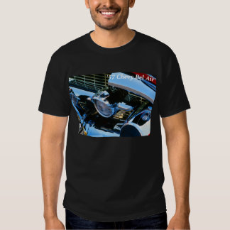 Classic Car Chrome Abstract Red 1957 Chevy Bel Air Tee Shirt