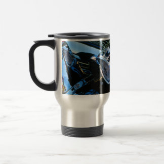 Classic Car Chrome Abstract Red 1957 Chevy Bel Air Travel Mug