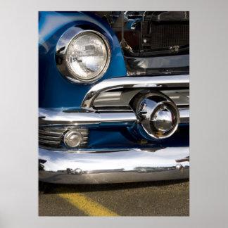 Classic Car Chrome Closeup Poster