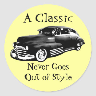 Classic Car Classic Round Sticker
